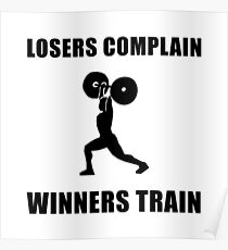 Weightlifting Winners Train Poster