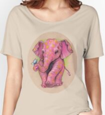Pink Elephant (with golden spots) Women's Relaxed Fit T-Shirt