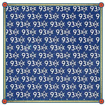 93 Unicursal Hexagram Pattern Scarf by PHOSPHORUS