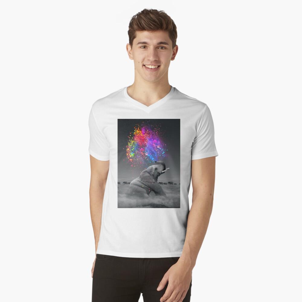 Wahre Farben innerhalb T-Shirt mit V-Ausschnitt