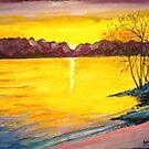 Sunset on the Lake by Jennifer Ingram