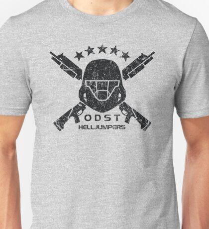 ODST Helljumpers (Black Distressed) Unisex T-Shirt