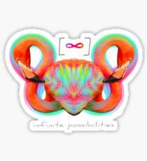 Infinite Possibilities - (Neon Infinity Flamingo) Sticker