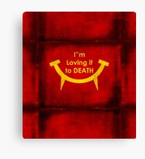 MacViper the zombie and vampire fast food chain, Bloody good food is our motto! Canvas Print