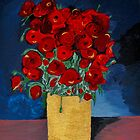 RED Poppies for Peace  by Anne Gitto
