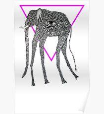 Blind Elephant Poster