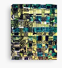 Green Patterned Woven Paper Canvas Print