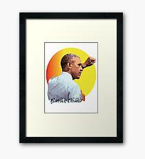 President Barrack Obama Framed Print