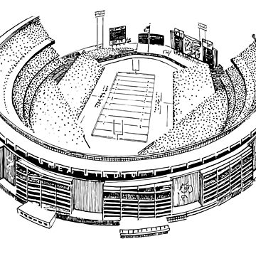 Shea Stadium - New York Jets/Mets Stadium Sketch by 1MNL1