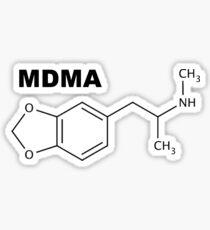 MDMA (Ecstasy) Molecule 2 Sticker