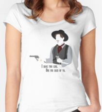 Tombstone: Two Guns Women's Fitted Scoop T-Shirt