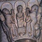 Baptism Jesus, Column capital Vezelay France 19840505 0061 by Fred Mitchell