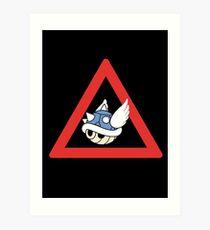 Danger Blue Shell Art Print