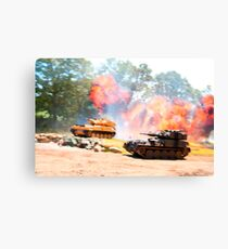 Tank battle Canvas Print