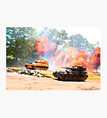 Tank battle Photographic Print