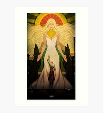 A Goddess of his own Art Print