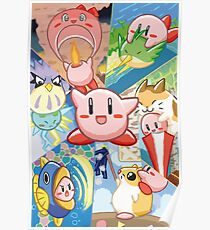 Kirby's Dream Land 3 - Companion Abilities Poster