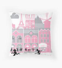 A view of Paris, France Throw Pillow