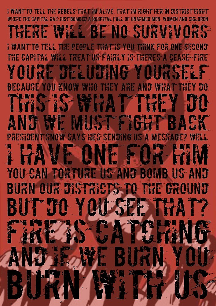 The Hunger Games Typography by BookishRealms