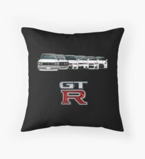Nissan GTR Throw Pillow