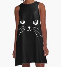 Cute Black Cat A-Line Dress