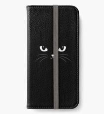 Cute Black Cat iPhone Wallet/Case/Skin