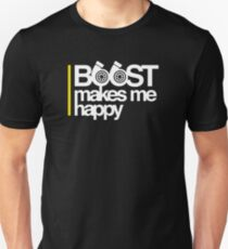 Camiseta ajustada Boost me hace feliz