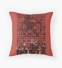 The Hunger Games Typography Throw Pillow