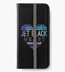 Jet Black Herz iPhone Flip-Case/Hülle/Klebefolie