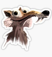 ICE AGE - Scrat 's face Sticker