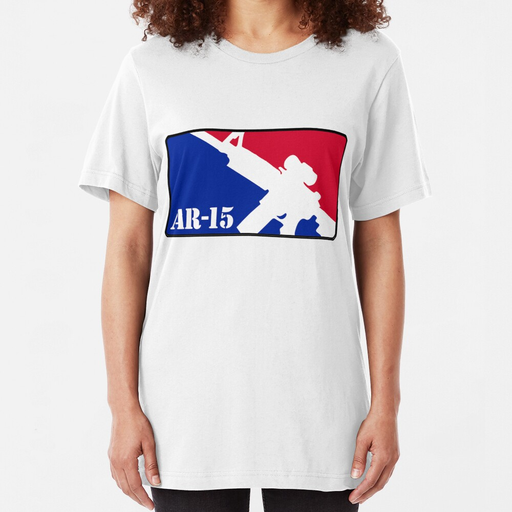 AR15 Red White and Blue Slim Fit T-Shirt