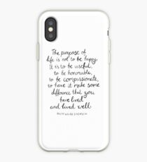 Inspirational Quote - Purpose of Life, Emerson iPhone Case
