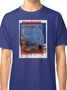 Blue and Orange Collage Classic T-Shirt