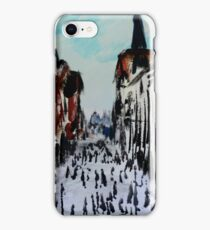 Chester Cityscape Urban Street Contemporary Acrylic Painting On Paper iPhone Case/Skin