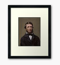 Henry David Thoreau, 1856 Framed Print