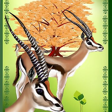 Gazelle n Tree-2  by Lotacats