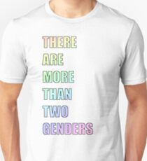 There Are More Than Two Genders (Pastel) Slim Fit T-Shirt