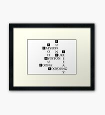 SNSD Crossword Framed Print