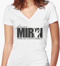 Forever Mirin (version 1 white) Women's Fitted V-Neck T-Shirt