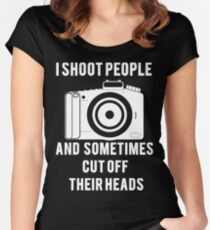 I Shoot People Funny Photographer Photography Women's Fitted Scoop T-Shirt