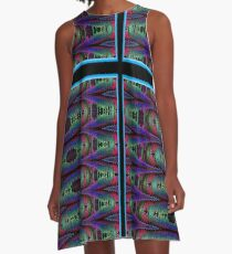 CHRYSALIS-PSYCHEDLIC BUTTERFLY A-Line Dress