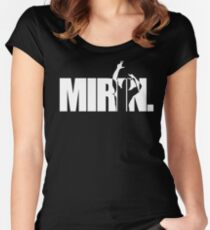 Mirin. (version 2 white) Women's Fitted Scoop T-Shirt