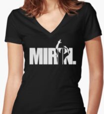Mirin. (version 2 white) Women's Fitted V-Neck T-Shirt
