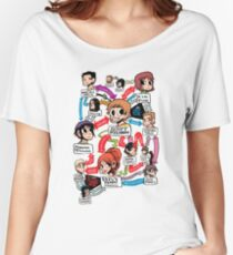 Scott Pilgrim relationship map Women's Relaxed Fit T-Shirt