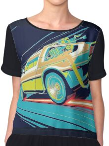 DeLorean- Back to the Future Chiffon Top