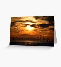Sunset @ new Brighton  Greeting Card