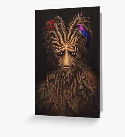 Last Days of the Woodman Greeting Card