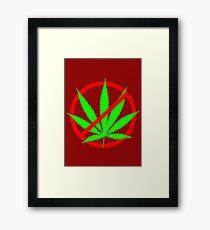 marijuana no Framed Print