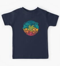 Aquatic Rainbow Kids Tee