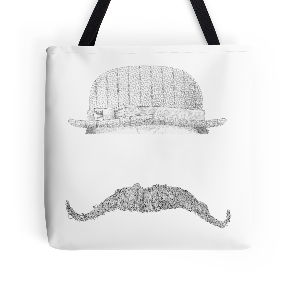 Mustache Wall Stickers Quot Gentleman S Hat Amp Mustache Quot Tote Bags By Gogeas Redbubble